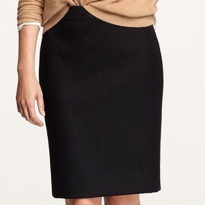 J. Crew Petite Double-Serge Wool Pencil Skirt